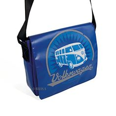 New Trending Shoulder Bags: VW Collection by BRISA VW T1 Tarpaulin Shoulder Bag Small - Blue. VW Collection by BRISA VW T1 Tarpaulin Shoulder Bag Small – Blue   Special Offer: $69.95      311 Reviews Tarpaulin Shoulder Bags with a vintage VW T1 Bus Print on the front. Includes padded compartment ideal for tablet-PCs. Material: Tarpaulin. Inner material: denim. Size: 28x23x7...