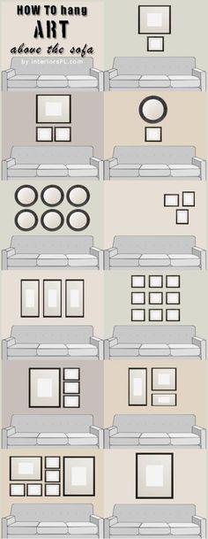Cómo decorar la pared en la que se encuentra nuestro sofá? Aquí una ideas para conseguir el mejor resultado.