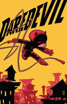 Daredevil # 1 (Marvel - Variant cover by Skottie Young. This made me smile. Had to post it. Comic Book Artists, Comic Books Art, Comic Art, Book Cover Art, Comic Book Covers, Young Art, Man Thing Marvel, Skottie Young, Character Sketches