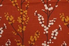 Richloom Evelyn Printed Cotton Drapery Fabric in Henna $8.95 per yard