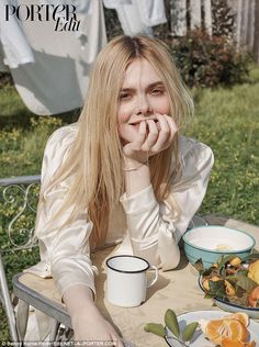 Impressive: Elle Fanning revealed she has developed a 'strong' identity as she was raised by a generation of 'fierce' in an interview with NET-A-PORTER's digital magazine, PorterEdit