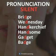 Pronunciation silent D English Vinglish, English Reading, English Tips, English Writing, English Study, English Lessons, English Speaking Skills, English Vocabulary Words, Learn English Words