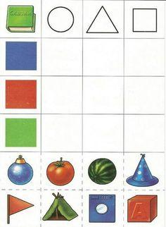 Mathe Formen | Geometrie Kindergarten | Formen Farbwn