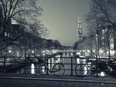 Prinsengracht and Wsterkerk, Amsterdam, Holland Photographic Print