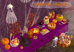"Halloween gift part. 3! :3 • Big candy pumpkin • Witch hat + 3 recolors • Little candy pumpkin ""Found under Deco > Sculpture / Deco > Misc. 10§ each Files compressed "" • DOWNLOAD (TS2) 