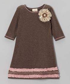 Take a look at this Heather Coco Daisy Ruffle Dress - Toddler & Girls by Vanilla Crème on #zulily today!