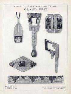 Dusausoy (Jewels) 1925 Art Deco Style