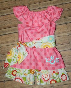 Ruffle Top and Shorts with Sash-Riley Blake Fabrics