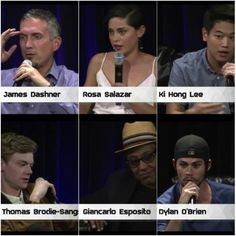 The Maze Runner cast at the Nerd Machine panel at SDCC2015