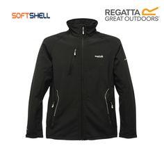 Regatta Mens Nielson III Lightweight Warm Jersey Backed Softshell Zipper Jacket