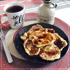 Delicious strawberry paleo pancakes! Gluten Free, Sugar Free, Primal, and protein packed!