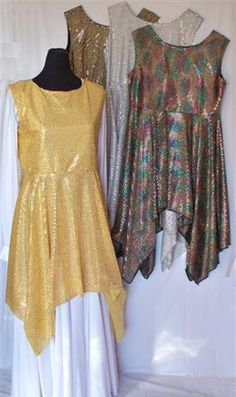 All Over Sequined Dot Dance Top    Starting at: $50.00      This garment comes in several different colors, some with black backgrounds and some with light-colored backgrounds. The white dress in the photo is for display only and is not part of the garment. We make all of our dance wear on site, so custom orders are always welcome.