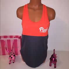 NEW PINK VS LOGO RACERBACK TOP PINK VICTORIA'S SECRET  RACERBACK TOP  WITH LOGO IN ONE SIDE COLOR ORANGE/GRAY  SIZE S  FAST SHIPPING!!!   Check out my other items! I am sure you will find something that you will love it! Thank you for watch!!!!!  Be sure to add me to your favorites list! PINK Victoria's Secret Tops Tank Tops