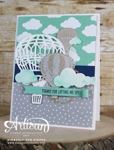 Lift someone's spirits with the Lift Me Up Bundle and Carried Away Designer Series Paper from Stampin' Up!