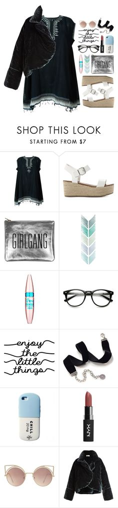 """04.01.17-2"" by malenafashion27 ❤ liked on Polyvore featuring Lemlem, Steve Madden, Sarah Baily, Maybelline, WALL, Sweet Romance, Valfré, MANGO and Isa Arfen"