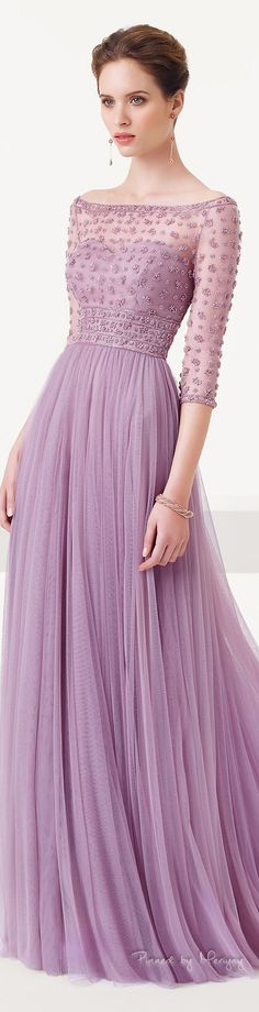 Light purple long dress by Aire Barcelona. Lovely Dresses, Beautiful Gowns, Elegant Dresses, Beautiful Outfits, Bridesmaid Dresses, Prom Dresses, Wedding Dresses, Dress Prom, Formal Dresses