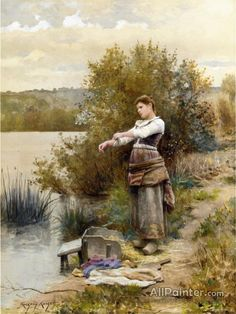 Daniel Ridgway Knight,The Laundress oil painting reproductions for sale