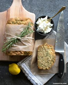 ... own yummy zucchini bread with this lemon rosemary zucchini bread