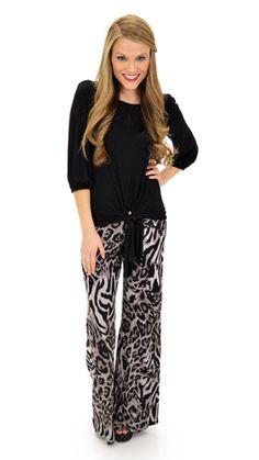 bce37c3ab3e Gray Leopard Pants. Leopard PantsBlue Door BoutiqueFront ...