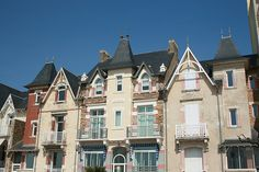 old houses in Sables d'Olonne France, Atlantic coast