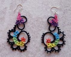 Tatted Rainbow Earrings by TatsRight on Etsy, £10.00 By TatsRight https://www.facebook.com/TatsRight or http://www.pinterest.com/tatsright/tatting/