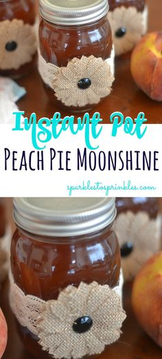 Instant Pot Peach Pie Moonshine Whether you are tailgating, hosting a bbq, or looking for a new drink to sip on, this instant pot peach moonshine is the perfect fit. Peach Pie Moonshine, Moonshine Cocktails, How To Make Moonshine, Strawberry Moonshine Recipe, Making Moonshine, Homemade Moonshine, Instant Pot, Canning Peaches, Homemade Liquor