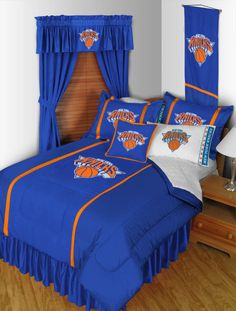 New York Knicks Sidelines Room Comforter and Sheet Set Size Twin #SportsCoverage #NewYorkKnicks