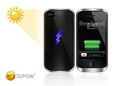 SolMate: iPhone's Hottest Solar, Inductive and Battery Case. by Adam Benzion & Jamie Wojcik, via Kickstarter.