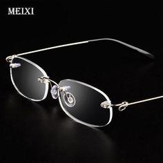 98284a8683f Rimless metal frame Nearsighted glass Ultralight Boxed Shortsighted Myopia  glasses Women Menmodlilj Reading Glasses