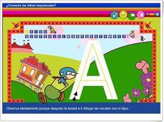 """""""¿Conoces las letras mayúsculas?"""" (Aplicación interactiva de Lectoescritura) Preschool Learning Activities, Apps, Acting, Templates, Education, Blog, Tic Tac, Projects, Interactive Activities"""