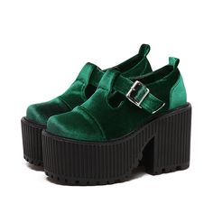 39.67$  Watch more here - http://aijhd.worlditems.win/all/product.php?id=32791964290 - 2017 new velvet high quality fashion Punk Rock platform heeled shoes women Ankle boots Thick heels black Wine red green shoes