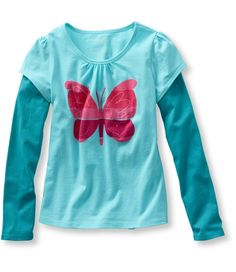 Girls' Freeport Knit, Double-Layer Tee from L.L.Bean on Catalog Spree, my personal digital mall.