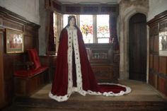 Life-sized waxwork Anne Boleyn figure, created by Emily Pooley, now on display at Hever Castle as part of the 'A Royal Romance' exhibition.