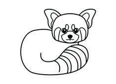 red panda coloring page