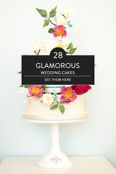 glamorous wedding cakes @weddingchicks