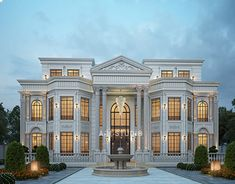 Classic House Exterior, Classic House Design, Dream House Exterior, Dream Home Design, House Plans Mansion, Modern Villa Design, House Gate Design, 3d Architectural Visualization, Kerala Houses