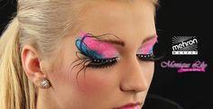 Monique Lily's eye design Mehron paradise makeup AQ white, brilliant azur, light pink, black  - Paradise Glitter Blue, Pastel pink