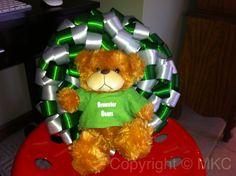 ribbon wreath with high school mascot
