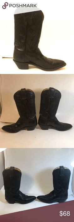 6ef67f584ad Tony Lama Men s Black Western Cowboy Boots 6.5 EUC Same or Next Day  Shipping Bundle for