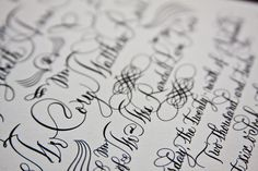 Black Calligraphy Wedding | The Beauty of Engraving