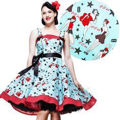Atomic Cherry - Hell Bunny Dixie 50's Pin Up Dress