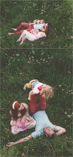 This entire session is absolutely amazing! What I love about the bottom photo... focus on family having fun in nothing but grass!