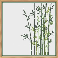 Modern Bamboo Counted Cross Stitch Pattern by HornswoggleStore Cross Stitch Needles, Cross Stitch Fabric, Counted Cross Stitch Patterns, Color Patterns, Print Patterns, Dmc Embroidery Floss, Back Stitch, Green Fabric, Le Point
