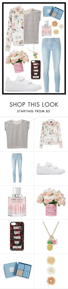 """""""#421 flowers"""" by xjet1998x ❤ liked on Polyvore featuring Lee, New Look, Frame Denim, adidas Originals, Jimmy Choo, Forever 21, Vera Bradley and Monsoon"""