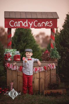 Candy Cane Stand for Christmas Pictures next year