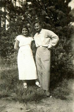 Couple in Stolin, Poland in the 1930s