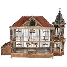 Antique and Vintage Bird Cages - 104 For Sale at Craftsman Living Rooms, Bird Cage Design, Antique Bird Cages, Pet Bird Cage, Home Ceiling, Victorian Furniture, Small Buildings, French Country Style, Design Furniture