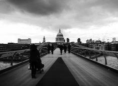 The Millenium Bridge London. UK