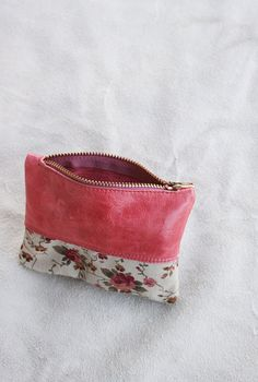 Sweet Romance  Handmade upcycled  leather and by TheDrifterLeather, $20.00