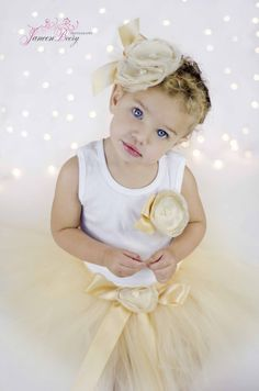 Gold Tresor Princess Tutu Dress Set by StrawberrieRose on Etsy, $59.95